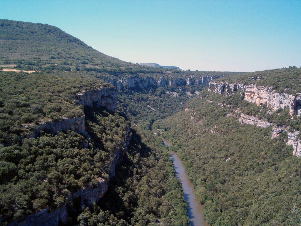 Vista del cañón desde el Mirador del Ebro - que hacer en Burgos