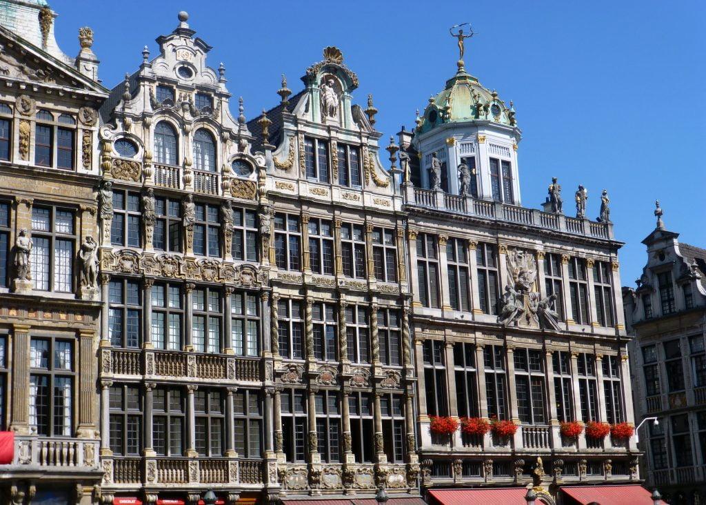 Casas del ala oeste de la Grand Place de Bruselas