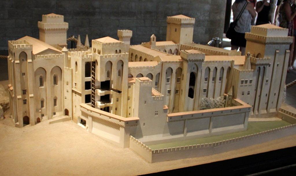 Maqueta del Palacio de los Papas - Palacio de los Papas de Avignon
