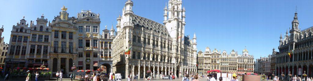 Panorámica de la Grande Place de Bruselas