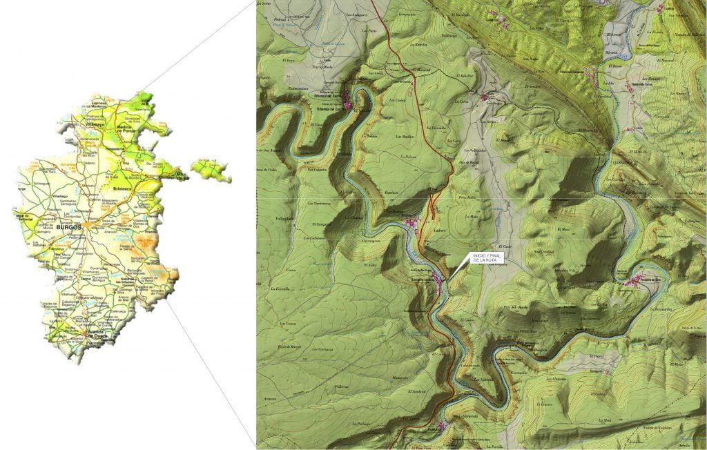Ruta Alto Ebro Burgalés - ruta por el cañón del Alto Ebro en Burgos