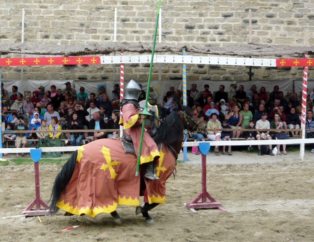 Torneo medieval en la palestra- qué ver en Carcasona en un día