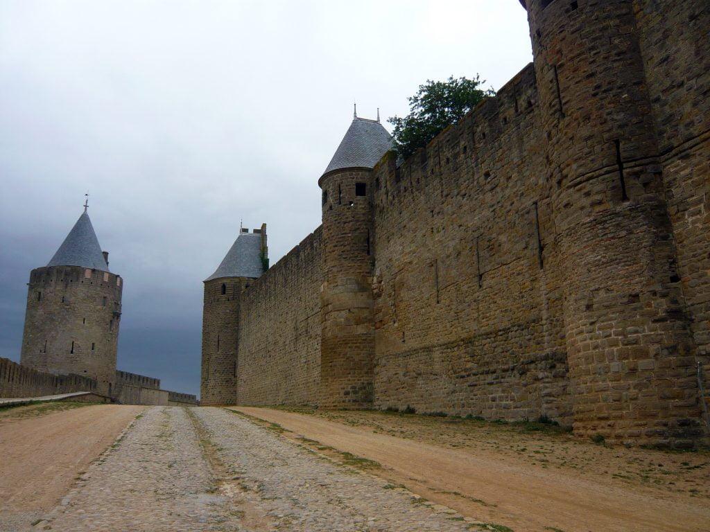 La palestra entre las dos murallas - qué ver en Carcasona en un día