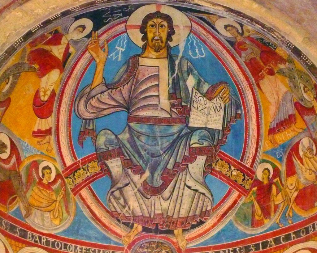 Pinturas de la Iglesia de Sant Climent de Taüll - iglesias del Valle de Boí