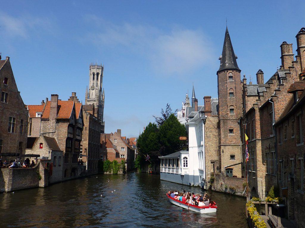 Muelle del Rosario en Brujas, un imprescindible en un viaje a Bélgica