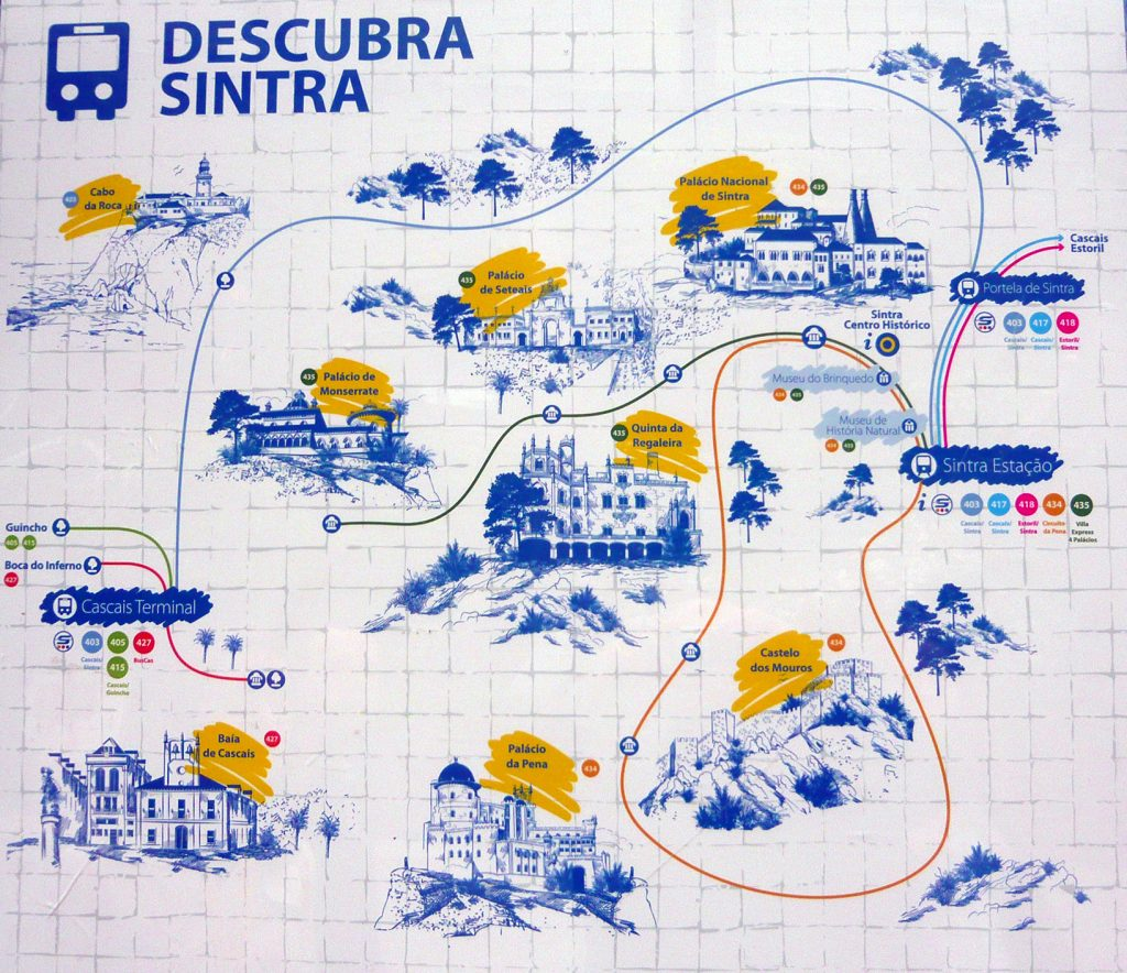 Rutas de autobús que llevan a los monumentos de Sintra - visitar la Quinta da Regaleira