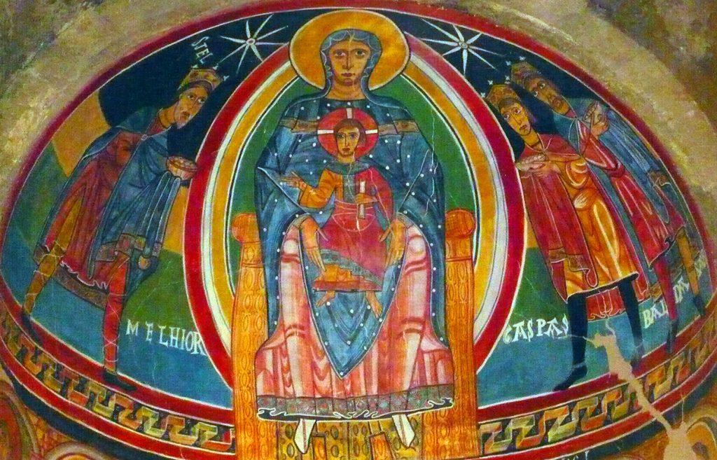 Pintura del ábside de Santa Maria de Taüll - iglesias del Valle de Boí