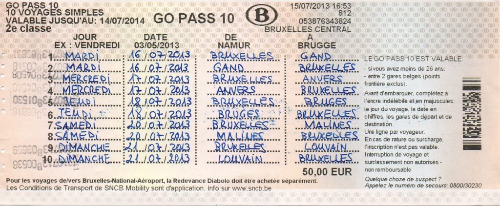 Bono Go Pass 10