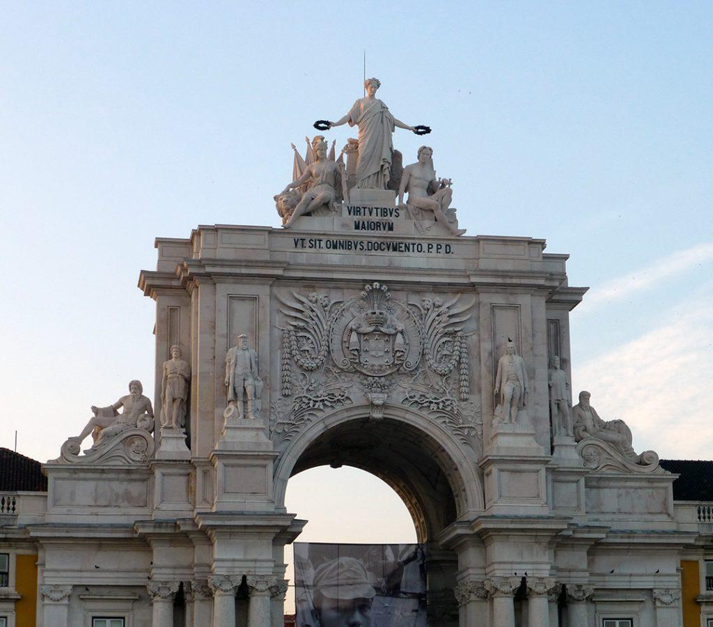 Arco Triunfal desde la Plaza de Comercio - Viaje a Lisboa