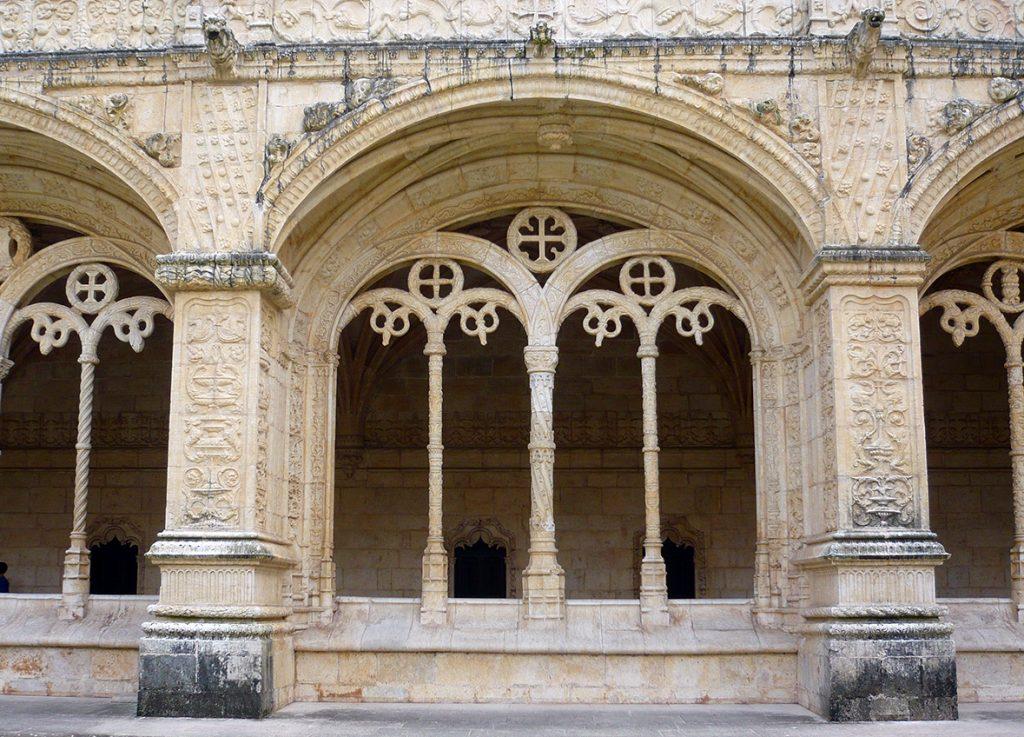 Balaustrada del Claustro del Monasterio de los Jerónimos de Lisboa