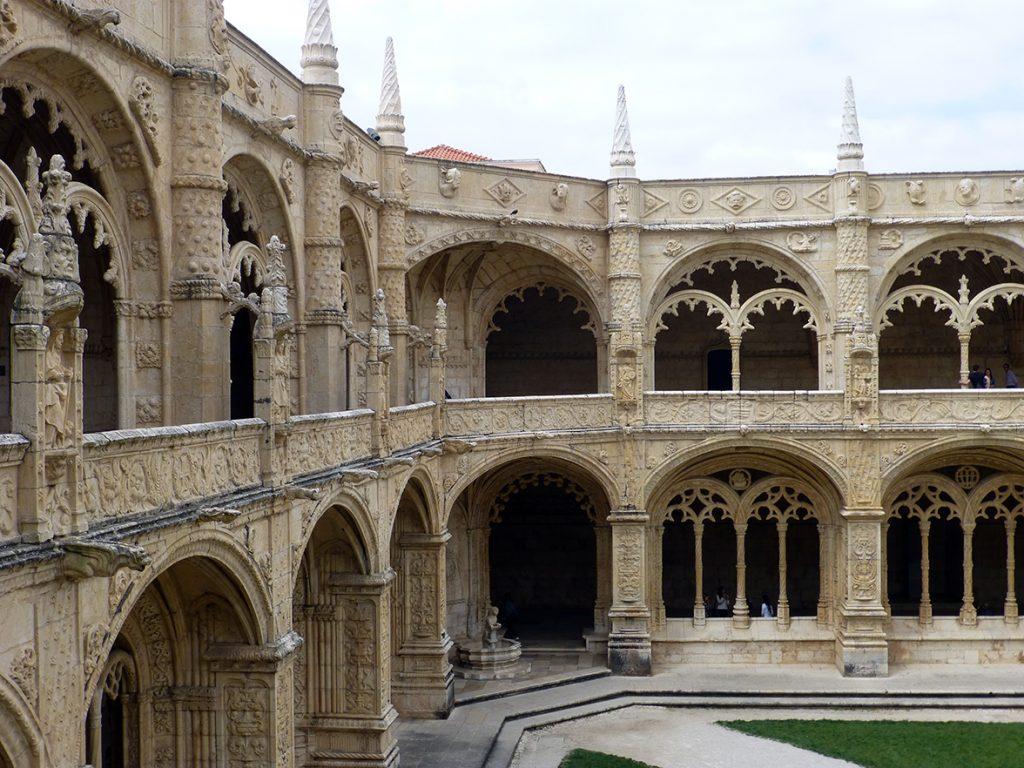 Esquina del Claustro del Monasterio de los Jerónimos de Lisboa