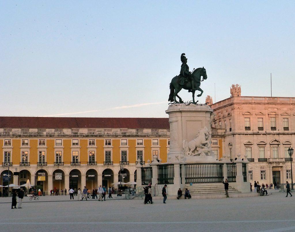 Estatua del rey José I en la Plaza del Comercio - Viaje a Lisboa