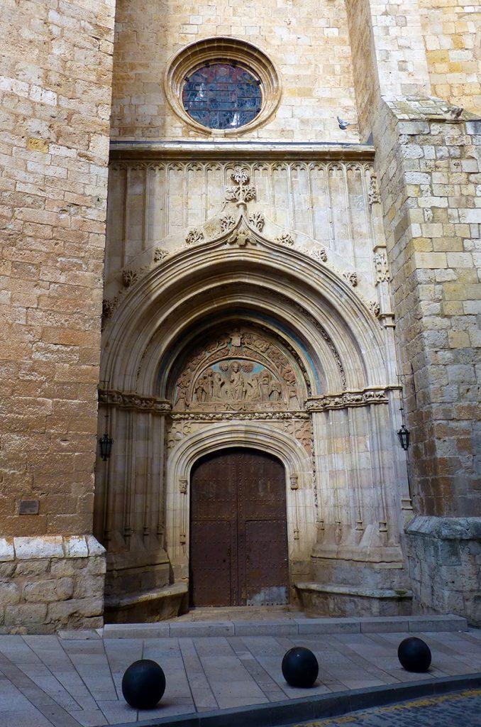 Puerta del Perdón de la iglesia de Santa María de los Sagrados Corporales de Daroca