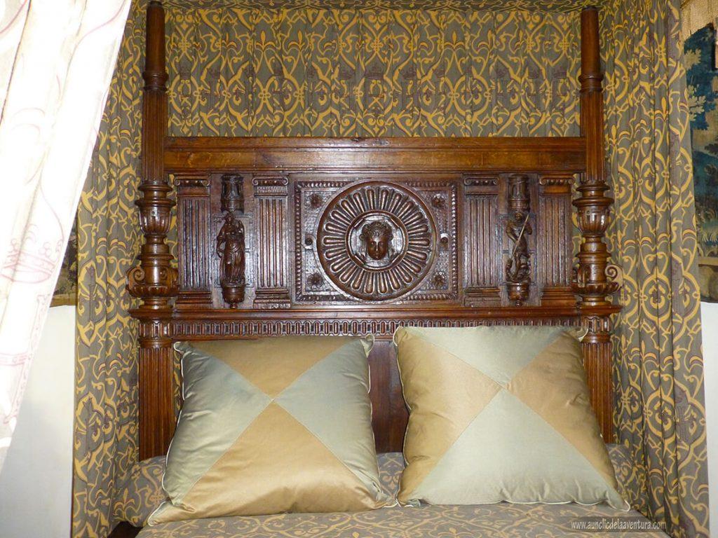 Cama de Enrique II en el Castillo Real de Amboise