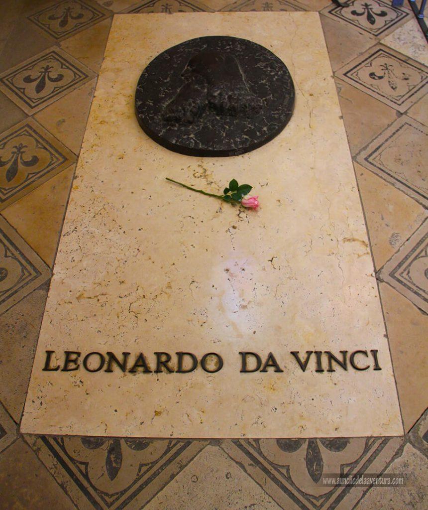 Tumba de Leonardo da Vinci en el Castillo Real de Amboise