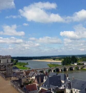 Vista de Amboise desde el Castillo