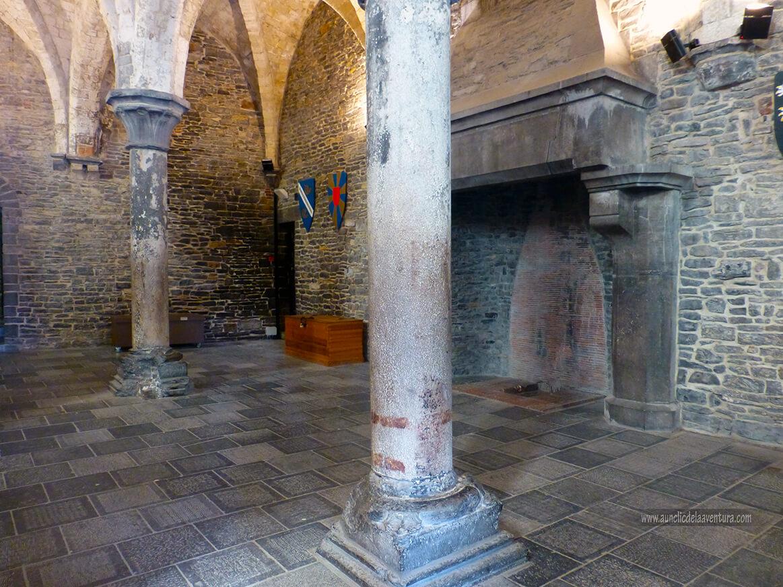 Sala de audiencias del Castillo de Gante - visitar el castillo de Gante
