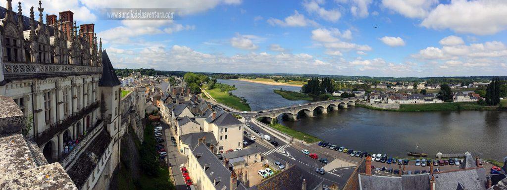 Vista panorámica desde la Torre de los Mínimos en el Castillo Real de Amboise