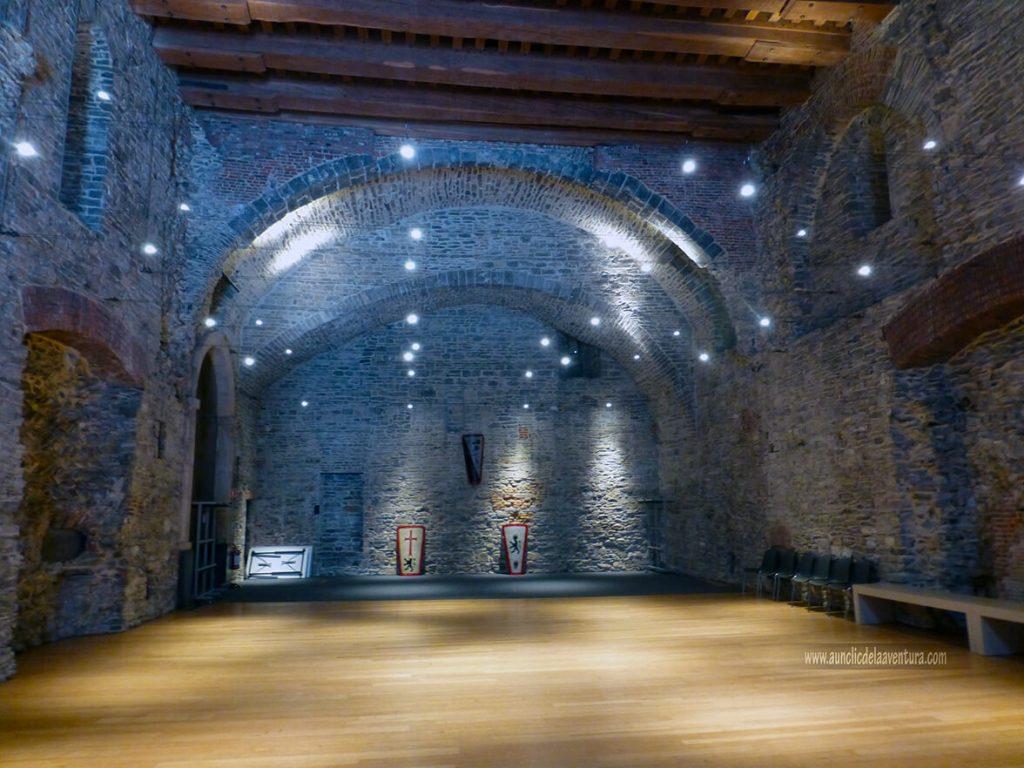 Salón de fiestas del Castillo de Gante - visitar el castillo de Gante