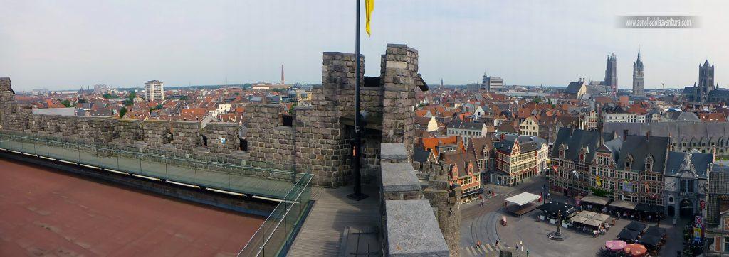Terraza superior del Castillo de Gante - visitar el castillo de Gante