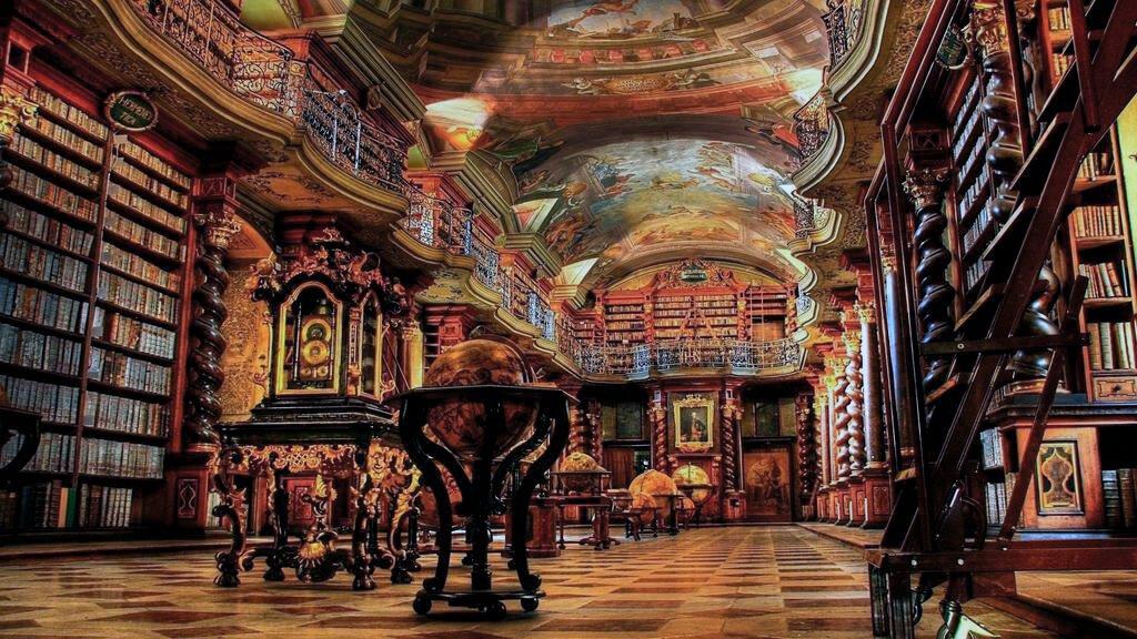 Biblioteca Barroca del Clementinum - Qué ver en la Ciudad Vieja de Praga