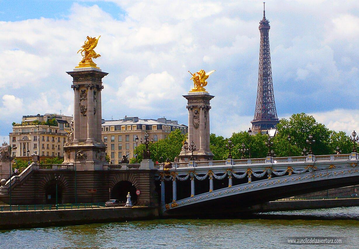 París, Torre Eiffel desde el Puente de Alejandro III - mis ciudades favoritas
