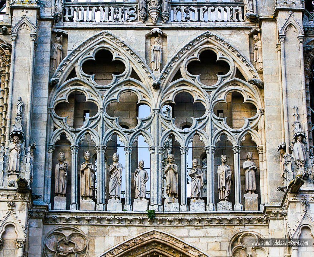 Galería de los reyes de la Portada de Santa María de la Catedral de Burgos
