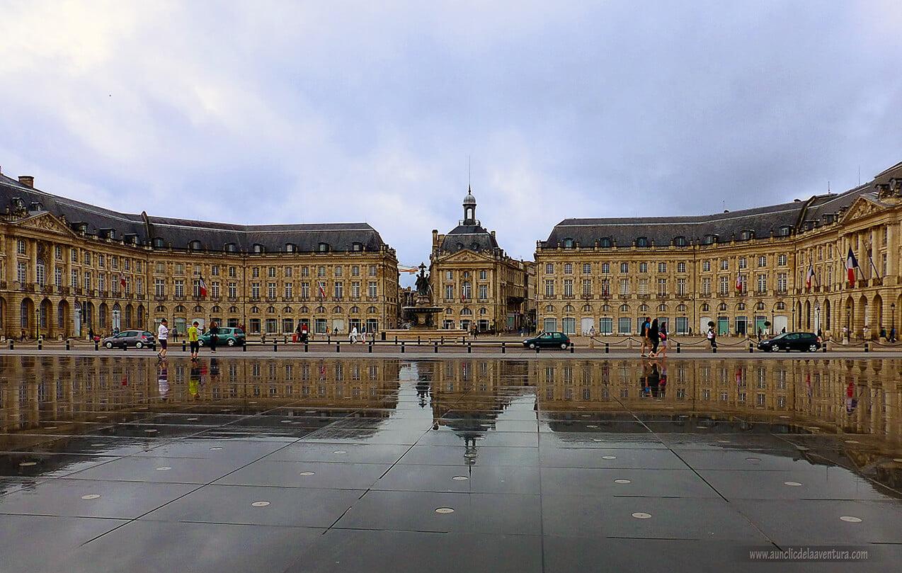 El Espejo de Agua de la Place de la Bourse, Burdeos