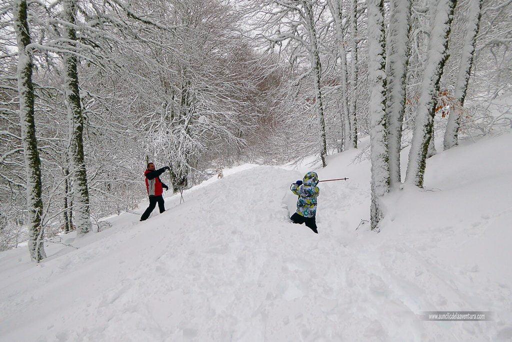 La nieve en Pineda de la Sierra, Burgos
