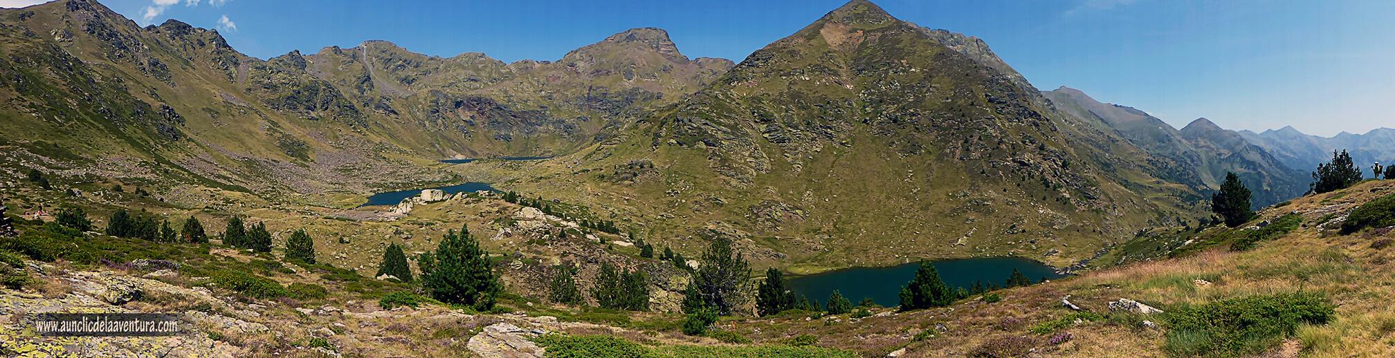 Panorámica de los tres lagos de Tristaina