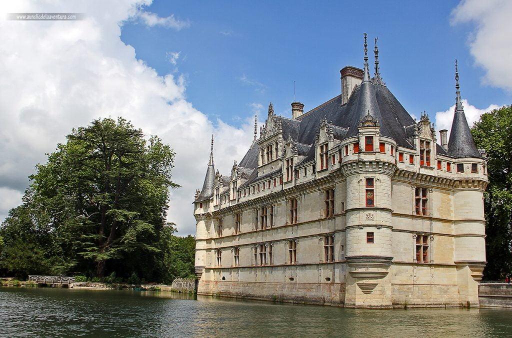 Château de Azay le Rideau, ruta de los Castillos del Loira en coche
