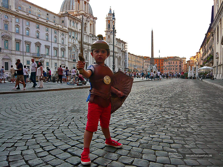 "Plaza Navona con su pavimento de ""San Pietrinis"""