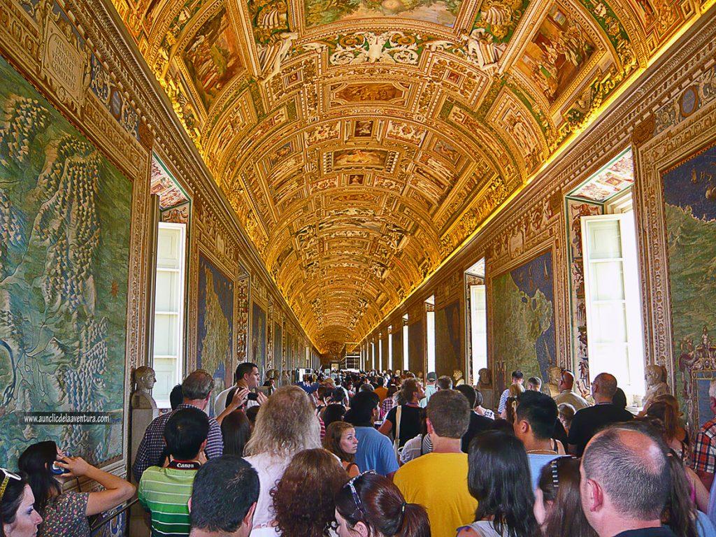 Sala de los mapas de los Museos Vaticanos - Consejos para visitar Roma