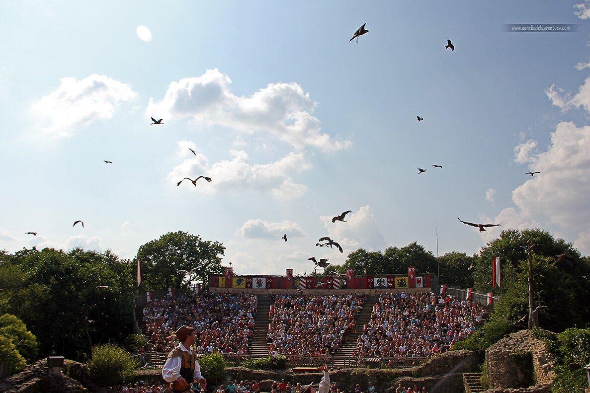 Espectáculo El baile de las aves fantasmas - Parque temático Puy du Fou de Francia