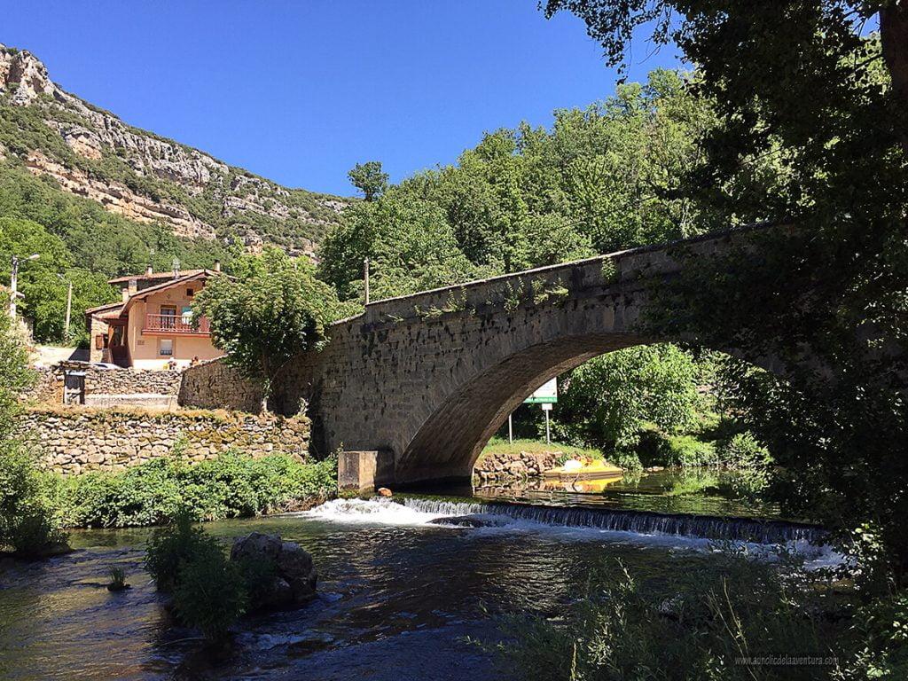 Puente de Valdelateja - ruta desde Valdelateja hasta la ermita de Castrosiero