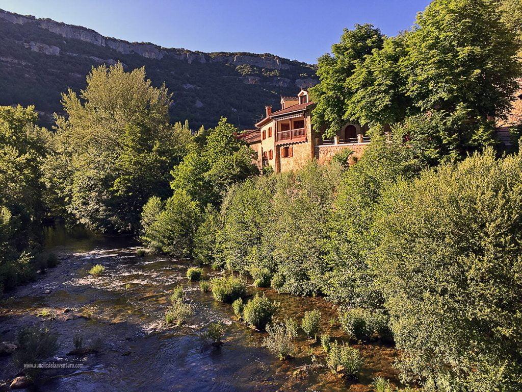 Río Rudrón a su paso por Valdelateja - ruta desde Valdelateja hasta la ermita de Castrosiero