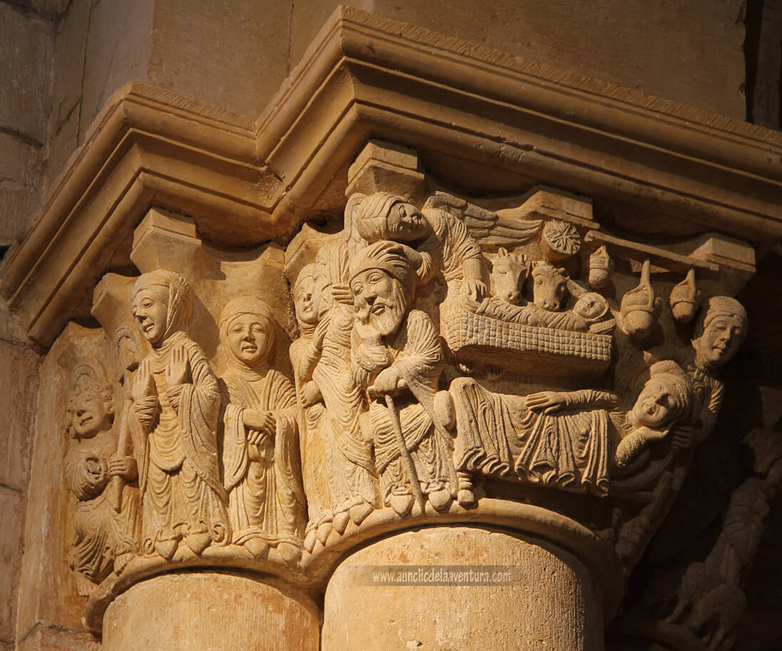 Capitel de la Anunciación del Monasterio de San Juan de Ortega