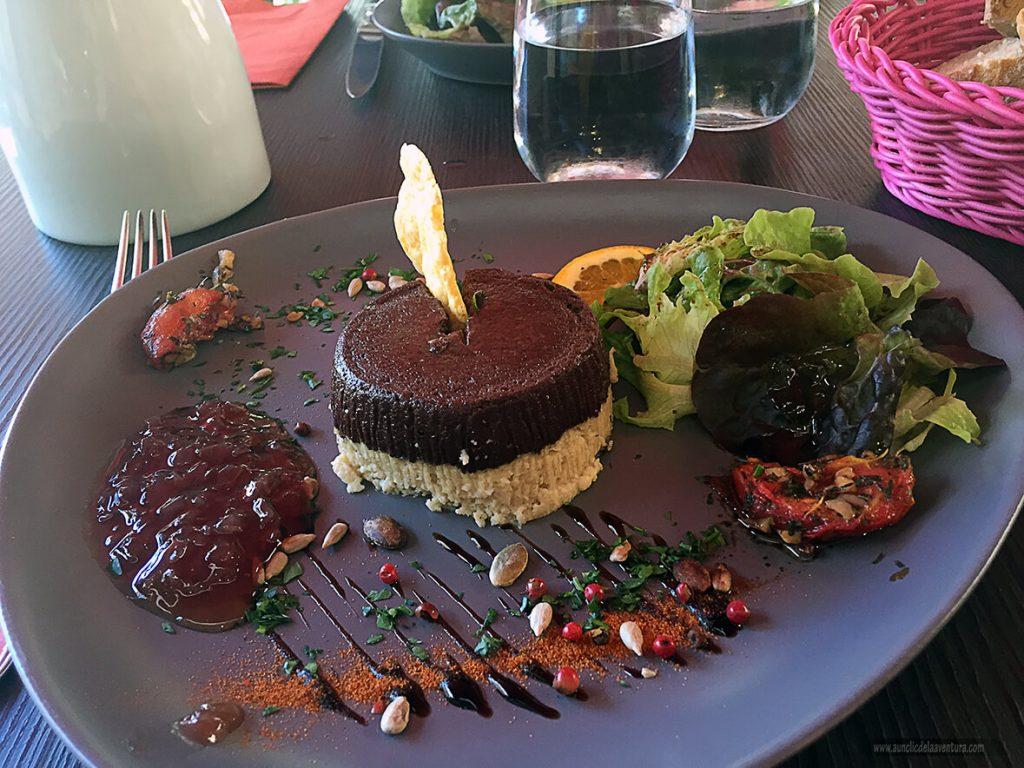 Un ejemplo de la exquisita gastronomía del Perigord Negro