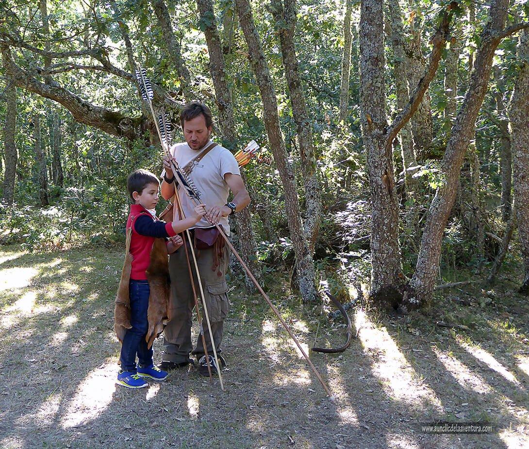 Intentando cazar con lanza