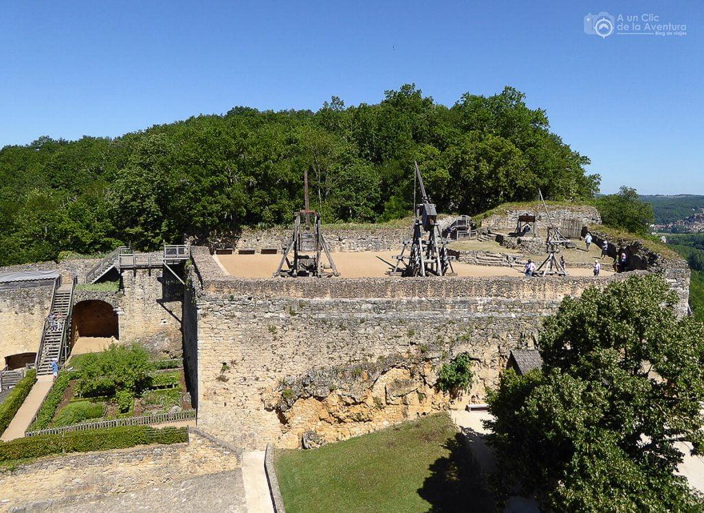 Terraza superior del Castillo de Castelnaud- visitarCastelnaud y Beynac-et-Cazenac