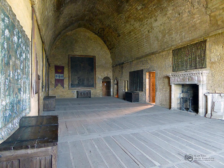 Sala de los Estados del Castillo de Beynac- visitarCastelnaud y Beynac-et-Cazenac