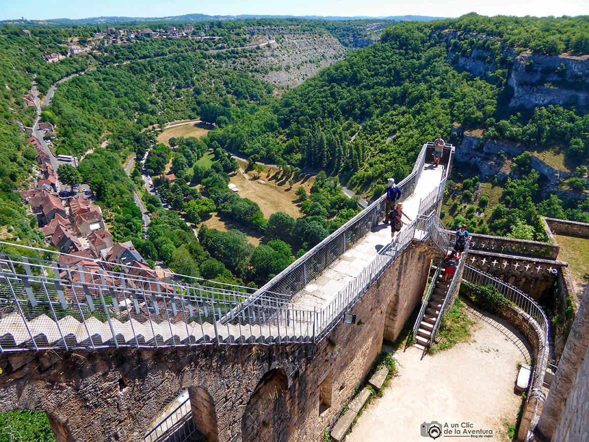 Unas vistas de vértigo desde las almenas del Castillo de Rocamadour