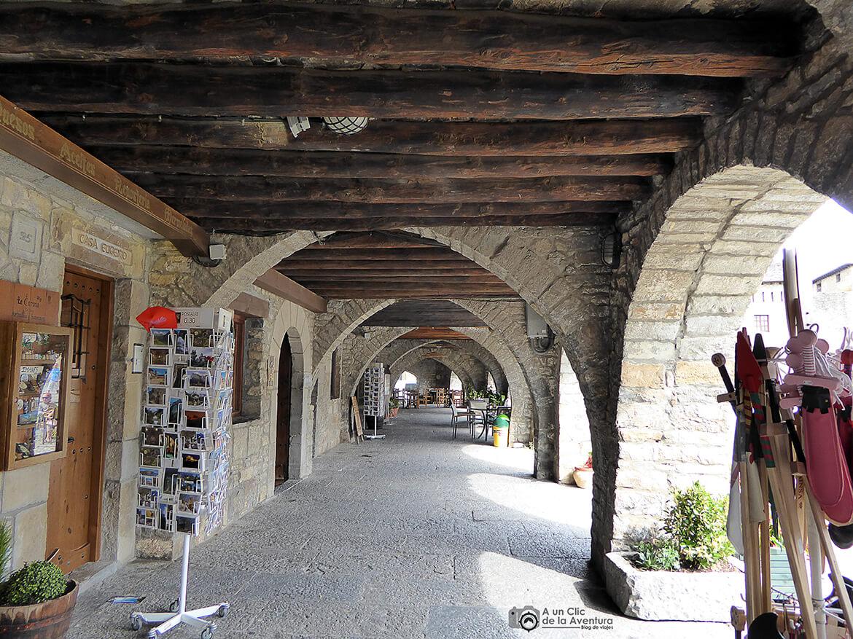 Interior de los soportales