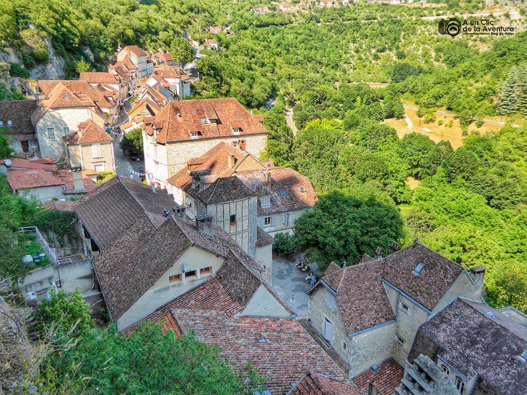 Vista del pueblo desde el Santuario -Qué visitar en Rocamadour