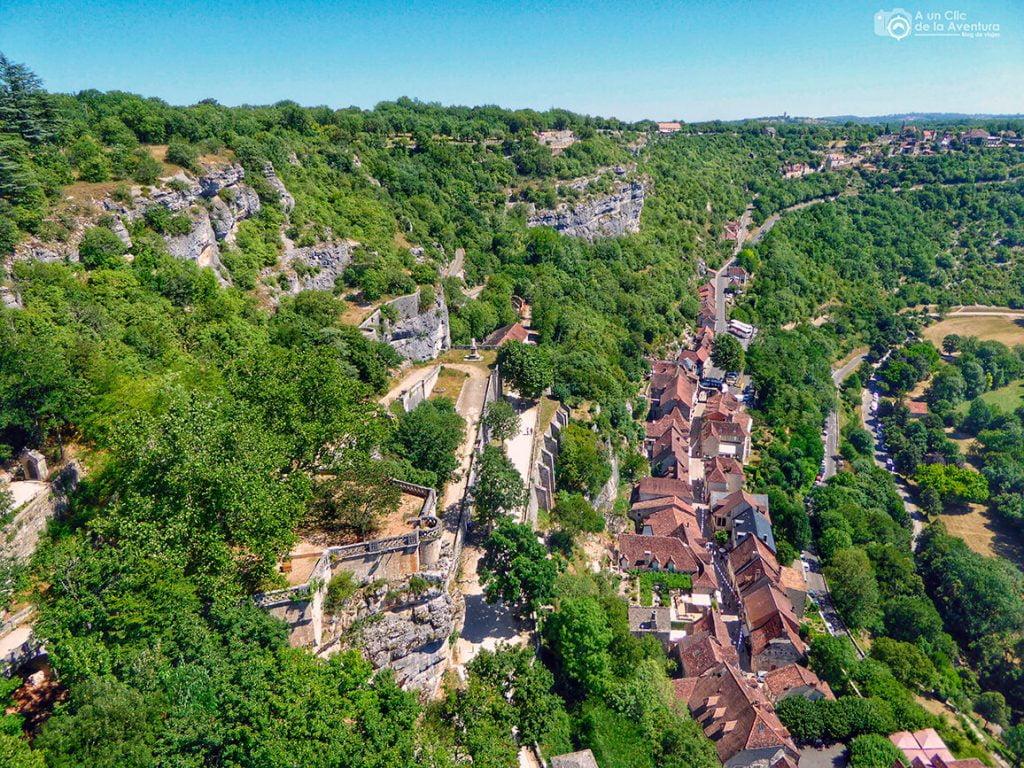 El pueblo de Rocamadour desde el Castillo - Qué visitar en Rocamadour