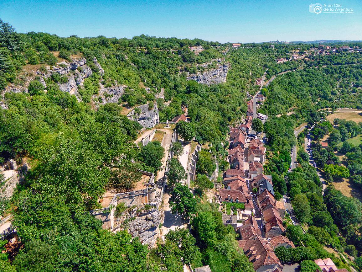 El pueblo de Rocamadour desde el Castillo