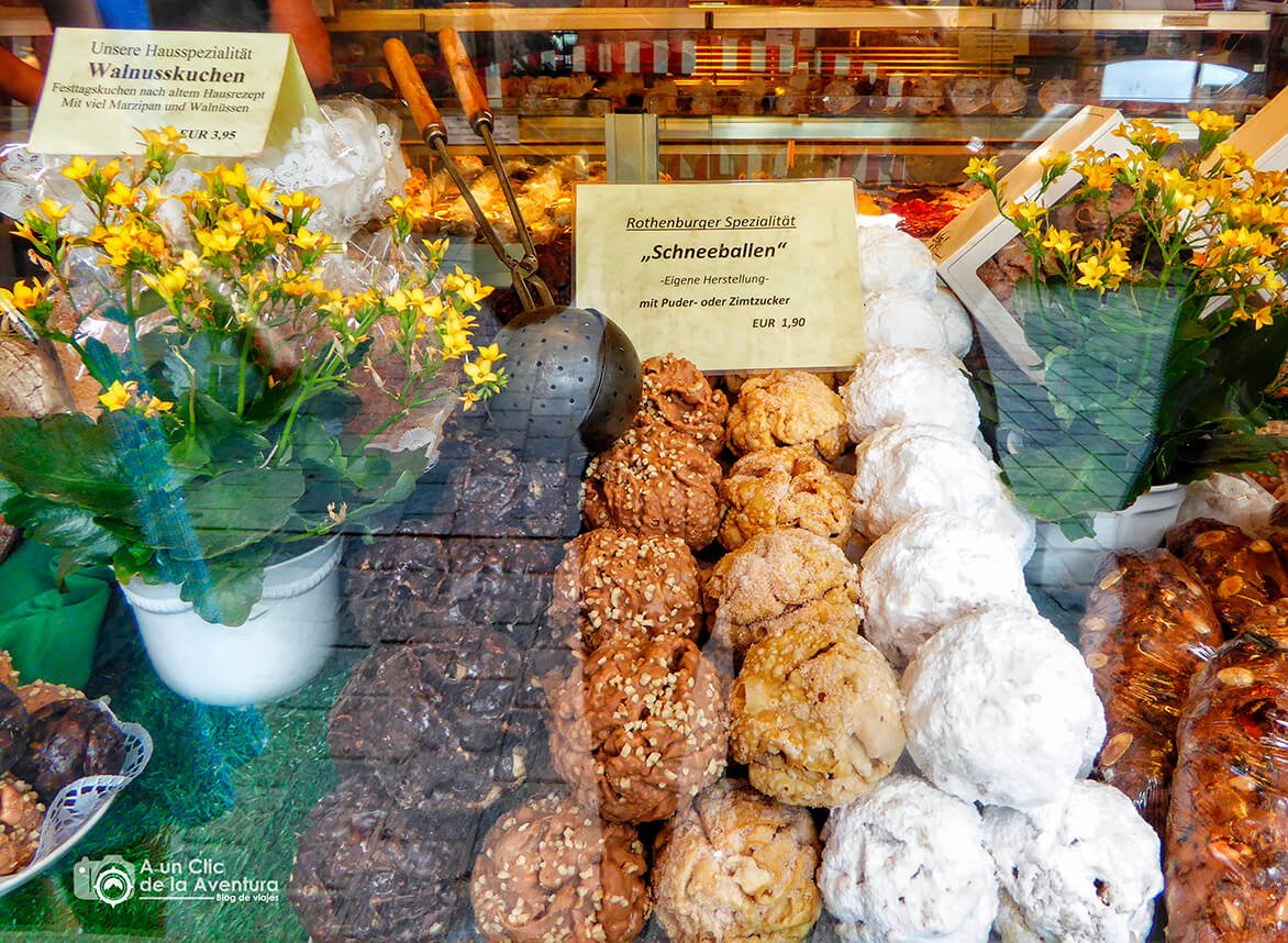 """Deliciosas """"bolas de nieve"""" de Rothenburg"""