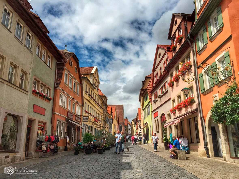 Calle de Rothenburg ob der Tauber - cómo visitar Rothenburg ob der Tauber