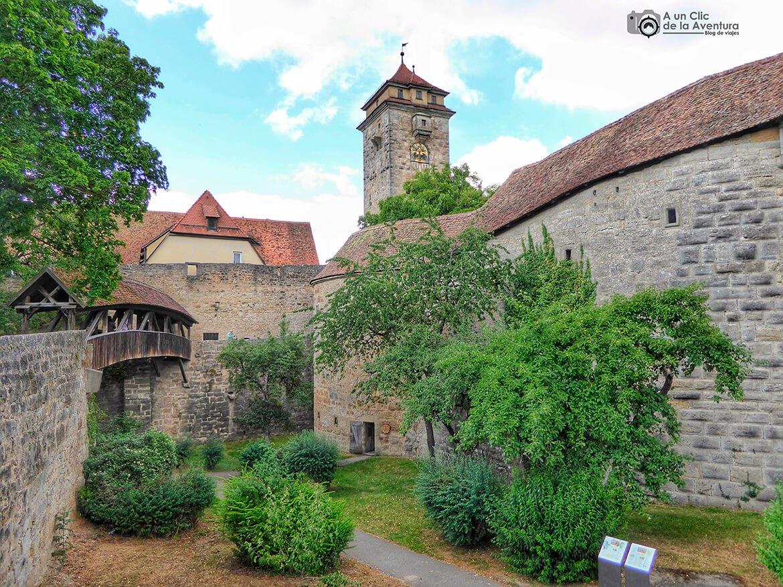 Foso del Bastión del Hospital - cómo visitar Rothenburg ob der Tauber