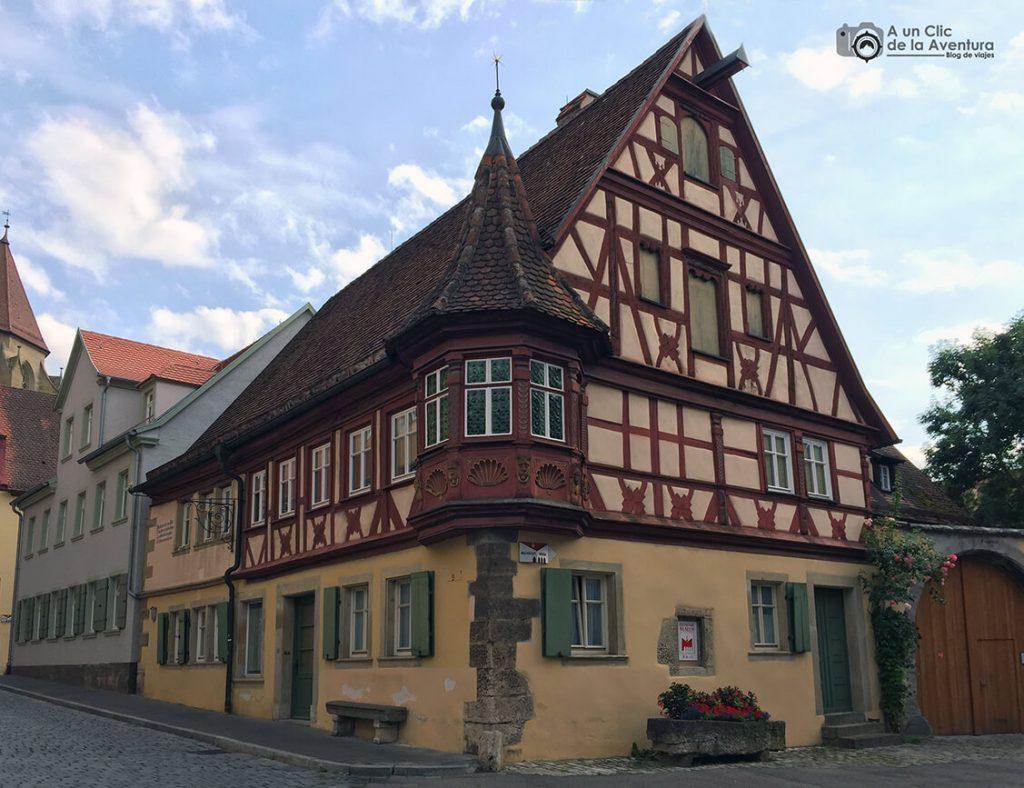 Casa del Mirador de Feuerlein- qué ver en Rothenburg ob der Tauber